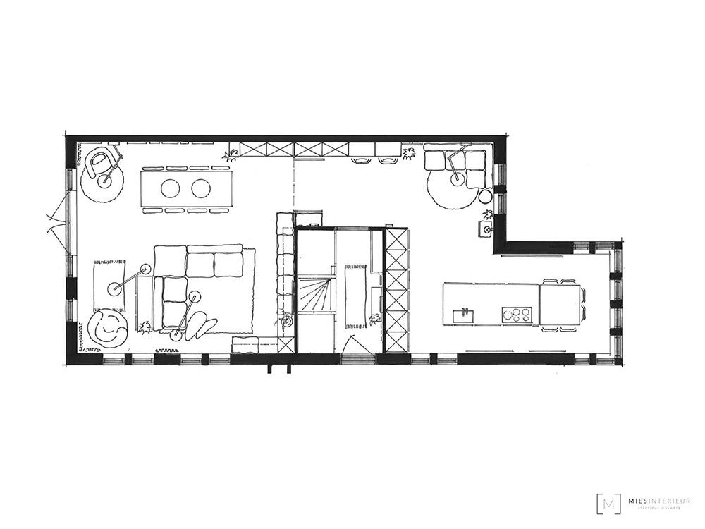 Ontwerpen voor nieuwbouw hoekhuis Zeist - Mies Interieur
