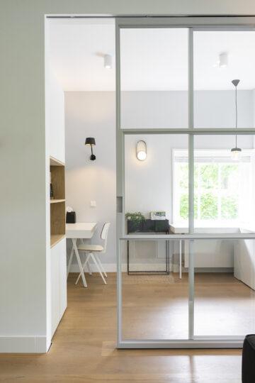 Interieurontwerp met stalen deuren voor werkplek woonhuis Zeist
